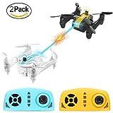 Mini Drone, AgoHike Mini Hélicoptère RC Drone avec Fonction de Combat, Flips 3D, Mode Sans Tête et Décollage / Atterrissage en Une Touche, Drone Cadeau(une paire)