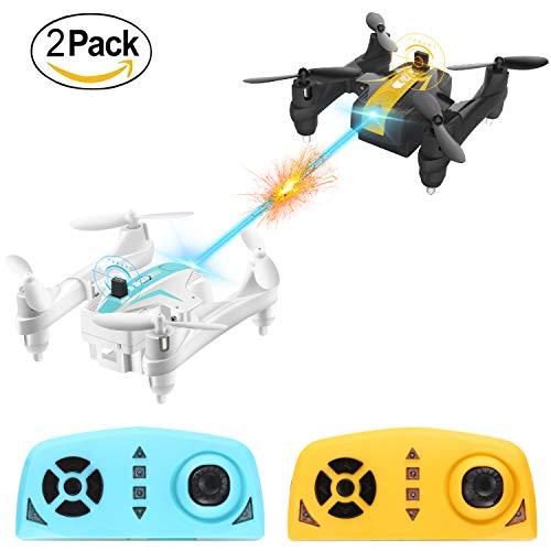 Mini-Battle-Drone-Coppia-Remote-Control-Drone-24Ghz-Sensore-giroscopico-a-6-assi-pieghevole-Quadcopter-con-360Flips-con-modalit-Headless-One-Key-Start-Landing