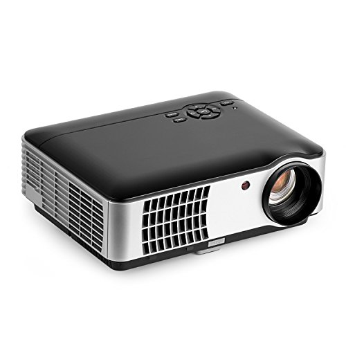 2800 lumens Full HD Beamer Projektor,OCDAY 1080P LED Projektor LCD Heimkino Videoprojektor 1280 × 800 Native Auflösung Unterstützt 1080P TV AV HDMI VGA USB 2800 lumens für zu Hause, Präsentation, Unterwegs Konferenzrunde Party Unterhaltung