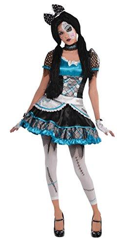 Zerbrochene Porzellanpuppe Kostüm Kinder Gr. M 12-14 (Broken Kostüme Doll)