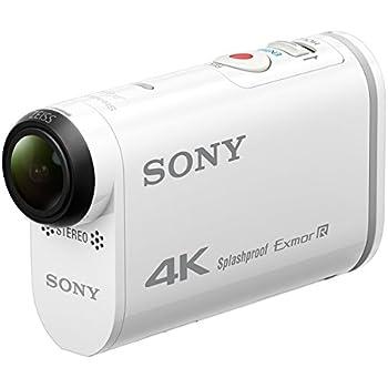 Sony FDR-X1000 4K Actioncam (4K Modus 100/60Mbps, Full HD Modus 50Mbps, ZEISS Tessar Objektiv mit 170 Ultra-Weitwinkel, Vollständige Sensorauslesung ohne Pixel Binning, Zeitlupenaufnahmen) weiß