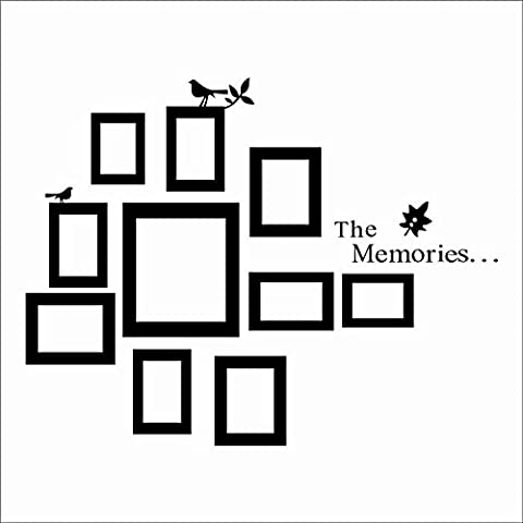 JINGXU Photo Frame The Memories Removable Vinyl Art Decal Mural Home Decor Wall Sticker
