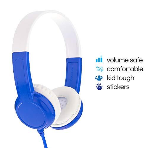 ONANOFF Casque Audio pour Enfant avec Limitation de Volume - Modèle Standard   Niveaux de Volume 85dB   Très Résistant  Vert