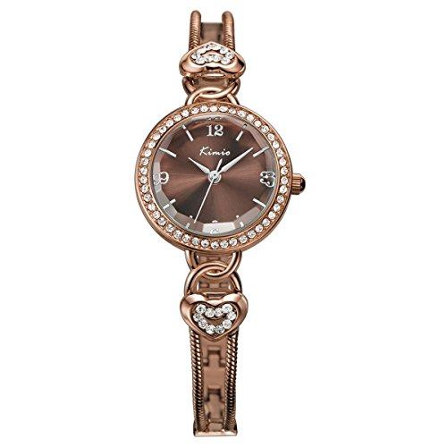 Hot Kimio Armbanduhr Wasserdicht Damen Fashion Elegante Runde Zifferblatt Handgelenk Uhren