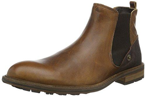 BULLBOXER710K45551A - Stivaletti a gamba corta mod. Chelsea, imbottitura leggera Uomo , Marrone (Braun (ARCD)), 45