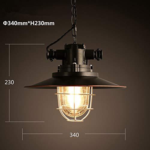 Schwarzer Retro industrieller Art-Café-Restaurant-Bar-Deckel-einzelne Hauptlager-Lampen-Leuchter-Lampe Hängende Beleuchtung
