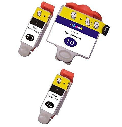 Prestige Cartridge 3er Pack Druckerpatronen für Kodak 10 ESP 3 ESP 5 ESP 7 ESP 9 ESP 3200 3250 5000 5100 5200 5210 5250 5300 5500 7200 7250 9200 9250 6100 6150 Hero 6.1 7.1 9.1 schwarz dreifarbig - Drucker Kodak Tinte 10