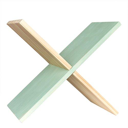 LH-Schweberegale Moderne Massivholz Nachttisch Schreibtisch kleine Bücherregal einfache Mini Nähte Klappregal (Farbe : #1) - Modernen-wand-einheit