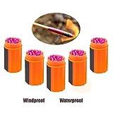 KRY Cerillas de supervivencia impermeable y a prueba de viento con cabeza extra grande, herramienta de supervivencia para al aire libre, acampadas, senderismo o emergencia, 5 Buckets Pack