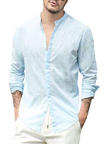 Zum Shop · Lueyifs Herren Leinenhemd Langarm Sommer Hemd Casual Regular Fit  Blusen Oberteil 688f203dd4
