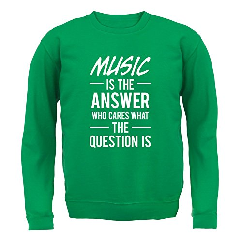 music-is-the-answer-enfant-sweat-vert-xl-9-11-ans