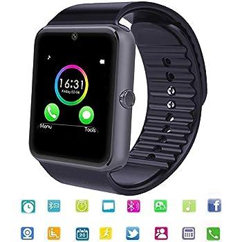 Smartwatch Bluetooth Reloj Inteligente Android con Ranura para Tarjeta SIM,Pulsera Actividad Inteligente para Deporte, Reloj Iinteligente Hombre Mujer ...