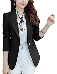 Oeste Mujer Otoño Formal Abrigos Manga Larga De Solapa Traje De Ocio Modernas  Casual Slim Fit 4777a505330c
