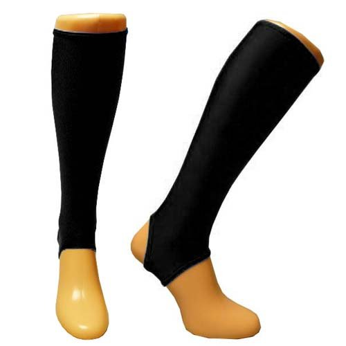 Shinnerz Unterschenkelstrümpfe, zum Tragen unter Schienbeinschonern, Shinnerz Inner Sock, schwarz, 13-14 Jahre