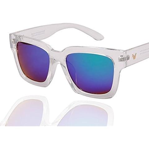 ZWX Tonalità di colore scatola trasparente/Occhiali da sole spiaggia ombra-B
