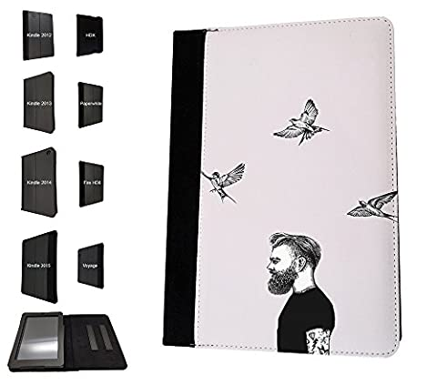 003472 - Birds And Hipster Illustration Design Amazon Kindle Fire 8