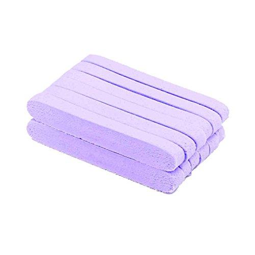 Zerama 12pcs / Set Compressed Facial Waschen Reinigung PVA Puff-Stock-Soft-Gesichtsreinigung Pad Gelb Lila Pink -