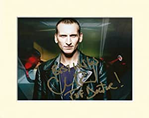 CHRISTOPHER CHRIS ECCLESTON DOCTOR WHO NO.9 DR WHO SIGNED AUTOGRAPH PHOTO PRINT IN MOUNT