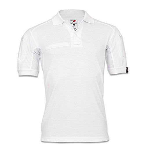 Copytec Tactical Poloshirt Weiß Hemd Polo Shirt Medizin Pflege T Shirt #22402, Größe:S, Farbe:Weiß