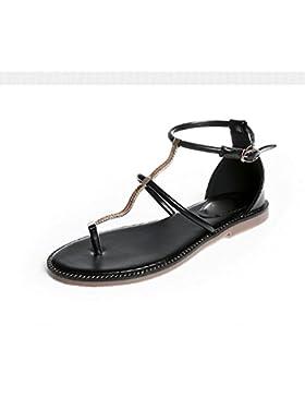 SDKIR-Estate a fondo piatto a catena metallica sandali, fibbie con operazioni di mantenimento della pace cartella...