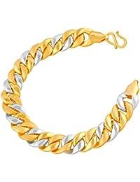 VK Jewels Handsome Gold And Rhodium Plated Alloy Bracelet For Men & Boys [VKBR2361G]