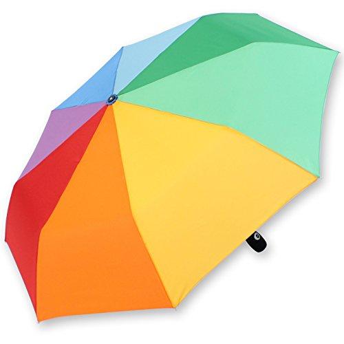 iX-brella Parapluie de poche avec ouverture et fermeture automatique Arc-en-ciel 97 cm