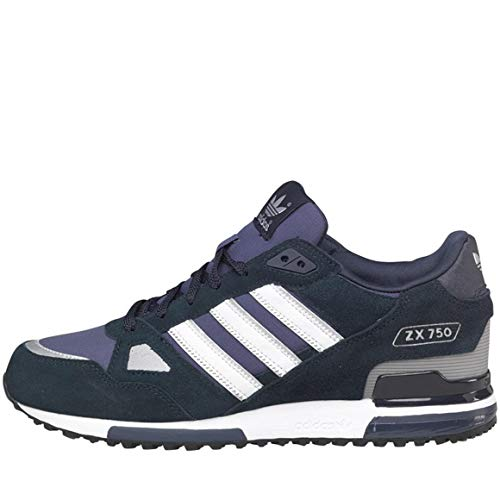 adidas ZX 750, Sneaker uomo Nero Blu, Nero (Blu), 40.5