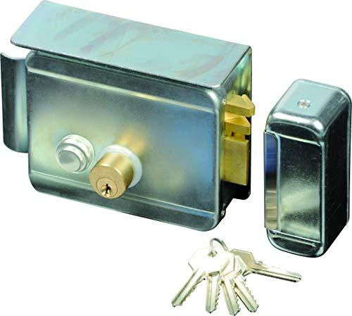 SCS SEN4131198 - Cerradura eléctrica (con pulsador en el interior, ca