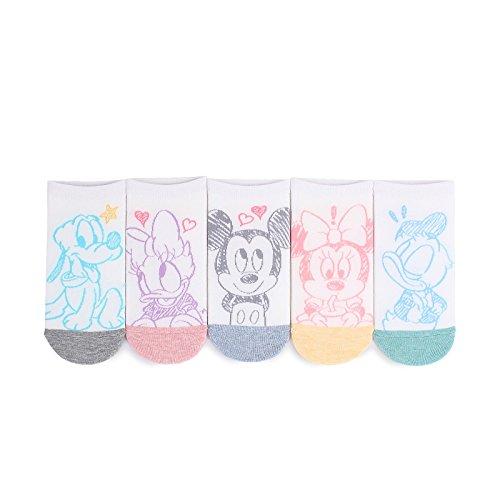 Disney lizenzierte Socken Sammlung (EU 36 - 38.5) mit Intype beutel (Knöchel(fla) 5 Paare)