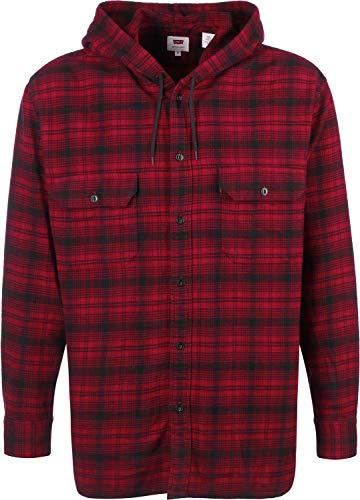 Levi's® Herren Hemd Hooded Worker Serval Crimson Langarm rot (74) L