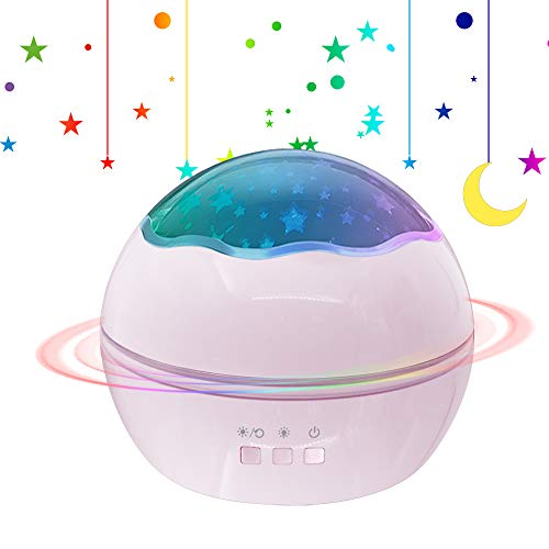[Neuste] Sternenhimmel Projektor, Sunvito Sternenprojektor Nachtlichter Schlummerleuchten Himmel Lampe Stern Mond Ozean Leuchten für Kinder Schlafzimmer (Rosa)