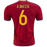 2016-2017 Spain Home Shirt (A.Iniesta 6)