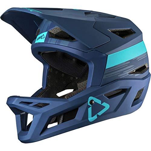 Leatt DBX 4.0 Fahrrad Helm Downhill DH Freeride FR MTB AM Mountain Bike Magnetverschluss EPS, 10193025, Farbe Blau, Größe S