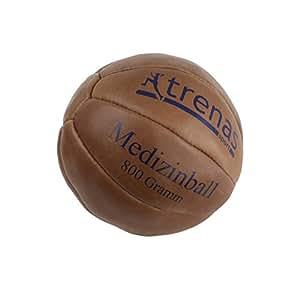 Original TRENAS Medizinball aus Leder - 800 Gramm