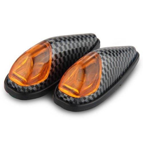 SODIAL(R) 2 x Motorrad Blinker High Power LED Mini Blinkleuchte Blinklicht Signalleuchte
