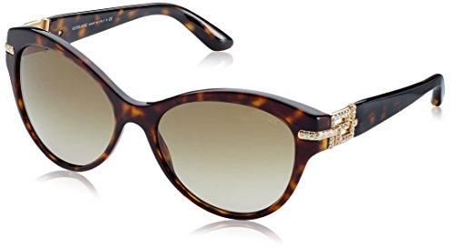 Versace Damen VE4283B 108/13 Sonnenbrille, Braun (Havana), One size (Herstellergröße: 57)