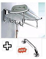 FortuneTM Stainless Steel Folding Towel Rack for Bathroom