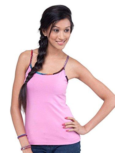 AforF Women's Cotton Lycra Styish Camisoles (JXWC_light pink_Small)