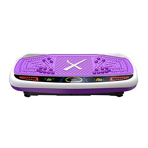 H&Y Fitness Vibrationsplatte - Crazy Fit Massage Fitness Oszillierende Vibration Power Plate - 99 Geschwindigkeit, 200W Silent Drive Motor, Griff mit Rad, 5 Übungsprogramme