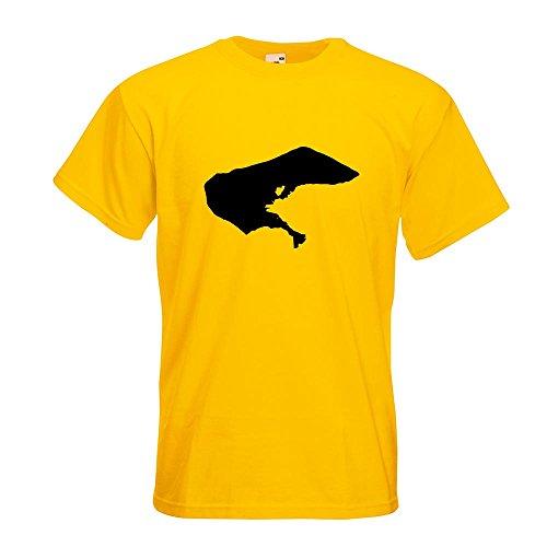 KIWISTAR - Borkum - Deutschland - Insel T-Shirt in 15 verschiedenen Farben - Herren Funshirt bedruckt Design Sprüche Spruch Motive Oberteil Baumwolle Print Größe S M L XL XXL Gelb