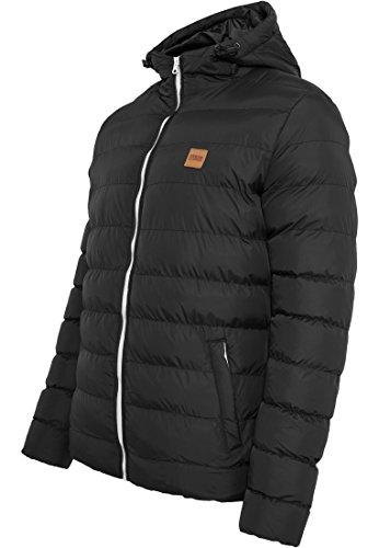 URBAN CLASSICS - Basic Bubble Jacket (black-white-black) Black-White-Black