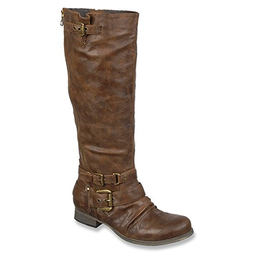 Carlos by Carlos Santana Hanna 2 Wide Calf Synthétique Botte Cognac