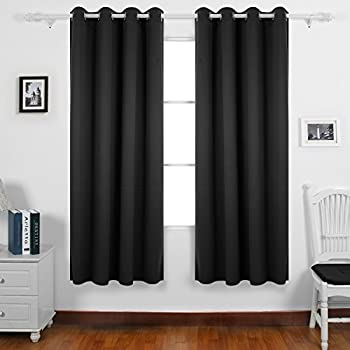 Deconovo Thermal Insulated Bedroom Blackout Curtains Ring Top Blackout  Curtains For Kids Bedroom With Two Matching