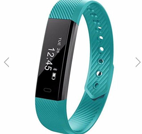 Torus Pro Very Fit Fitness-Tracker, Smartwatch, Schrittzähler und Kalorienzähler, mit grünem ArmbandDieses Fitness-Armband im Stile des Fitbit ist kompatibel mit iPhone und Android-Smartphones und wird einfach über USB aufgeladen, mit Logo.