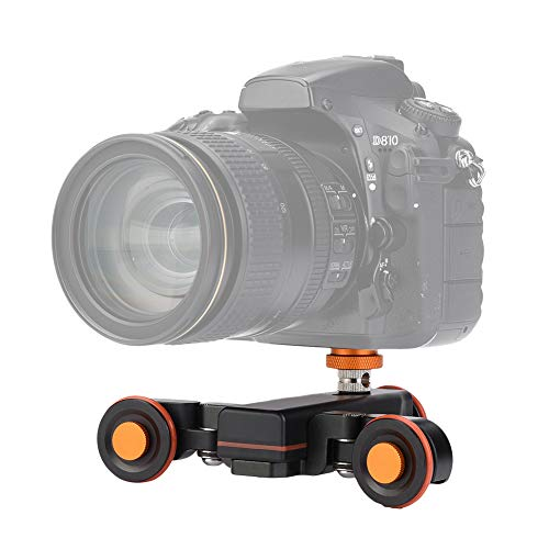 VBESTLIFE 3 Rad Auto Dolly Motorisiertes Video Car,VBESTLIFEAluminium-Legierung 3-Rad Mini Motorisierte elektrische Video-Track Rail Slider Dolly Auto für DSLR Kamera,Action Kamera und Handy, -