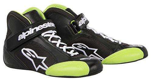 Alpinestars 2712013-16 Zapatos de Kart, Color Negro/Verde, Talla 4.5