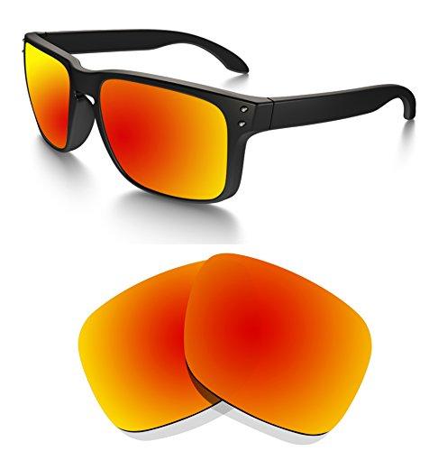 Littlebird4 polarisierte Ersatzgläser für Oakley Holbrook Sonnenbrillen, 1,5 mm, Verschiedene Optionen, Herren, Fire Red Mirror