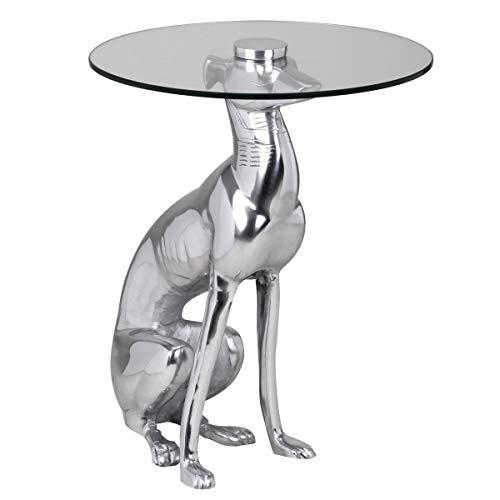Wohnling Design Deko Beistelltisch Figur Dog aus Aluminium
