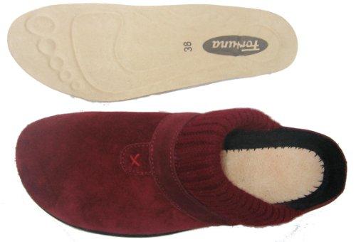 Fortuna 429039-02 Diana Strobel femme chaussons cuir bordeaux Bordeaux