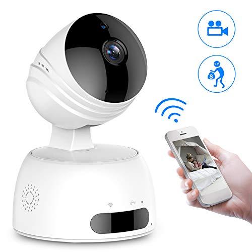 Überwachungskamera, ROXTAK HD Wireless IP Kamera mit WiFi, 355°/100° Schwenkbar, Zwei-Wege-Audio, Nachtsicht, unterstützt Fernalarm und Mobile App Kontrolle für Smartphone/PC